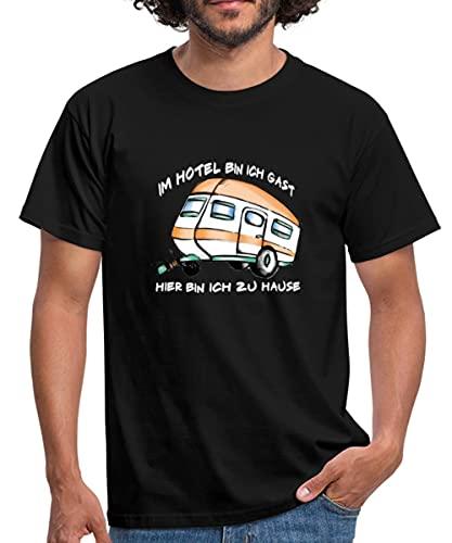 Camping Camper Sprüche Wohnwagen Urlaub Männer T-Shirt, 4XL, Schwarz