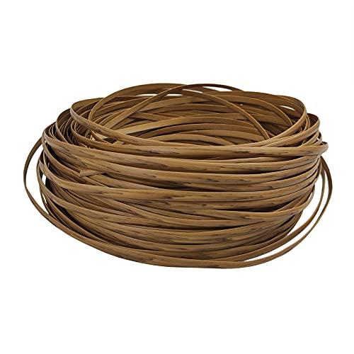 Feyart - Striscia in rattan PE con venature del legno chiaro, 6,5 mm, 75 m, per riparazione di mobili da giardino, in vimini di plastica per ripristino di mobili da patio