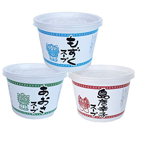 旨いもんハンター一押し カップスープ もずく あおさ 島唐辛子 3種×1セット 島酒家 簡単 便利 手軽