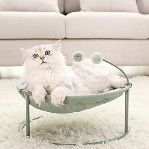 RENLEINB Katzenbett Katzentoilette Netto-rote Katze liefert Sommer abnehmbar und waschbar Haustiernest Vier Jahreszeiten Universal Katze Hängematte Katze Wiege Stuhl Liege (Color : B)