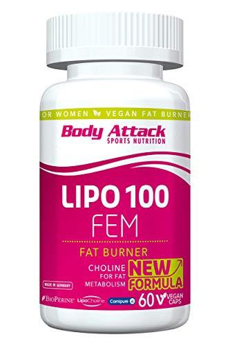Body Attack, LIPO 100 FEM, Abnehmen Kapseln