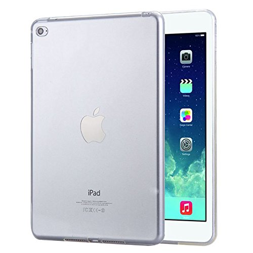 FAS1 New iPad 9.7' Case Cover (2018/2017 Version), NEW Clear Soft TPU Skin Gel Silicone Back Case Protector for Apple iPad 9.7' 2017 & 2018 (Transparent)