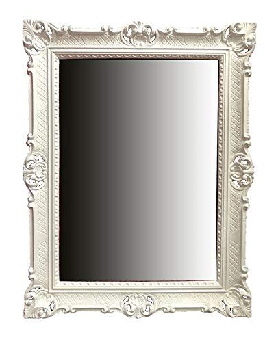 Lnxp WANDSPIEGEL BAROCKSPIEGEL Spiegel IN WEIß 90x70 cm ANTIK BAROCK Rokoko Shabby CHIC Renaissance...