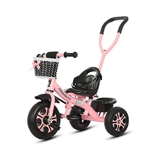 2-en-1 triciclo 2 años de edad, triciclo plegable es adecuada for montar dirección controlable cinturón de asiento de bicicleta de la bicicleta bebé de 1 año de edad, al aire libre con fácil de instal