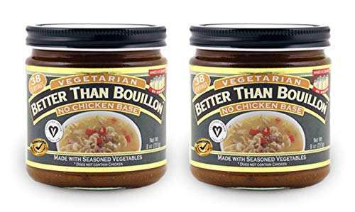 Better Than Bouillon Vegetarian No Chicken Base Bouillon 8 oz (2 Pack) with BTB Authenticity Seal