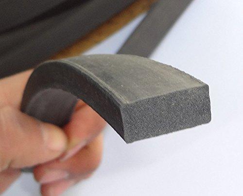 Neopren-Kautschuk-Dichtung, extrudiert, 1 cm hoch und 2 cm breit, Universal-Dichtungsprofil-Streifen