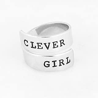Clever Girl - Jurassic Park Fandom - Raptor - Adjustable Aluminum Wrap Ring