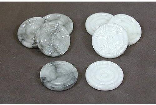 grau & Weiß Alabaster Checkers by Scali