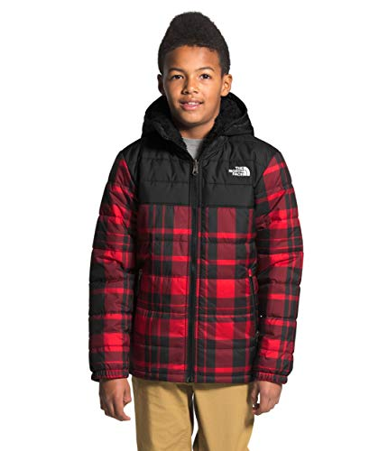 The North Face Boys  Reversible Mount Chimborazo Hoodie, TNF Red Holiday 2 Plaid Print, L