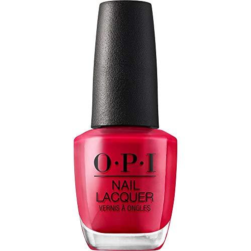 OPI Nail Laquer - Esmalte Uñas Duración de Hasta 7 Días, Efecto Manicura Profesional, OPI by Popular Vote Rojo - 15 ml