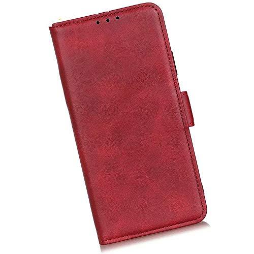 Boleyi Schutzhülle für Motorola Razr 5G, [ Magnetverschluss, Kartenfach, Standfunktion ] Handytasche Flip Brieftasche Schutzhülle Magnet Wallet Hülle Tasche Lederhülle für Motorola Razr 5G,rot