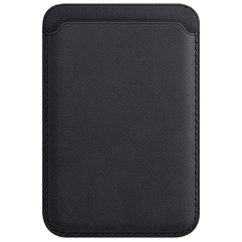 14chvily Para Apple iPhone 12/Pro/Mini/Max Magnético PU Tarjetero, Leather Wallet con Mag Safe RFID para iPhone 12 Mini/Max Handy Backentasche Card Holder para hombres mujeres (negro)