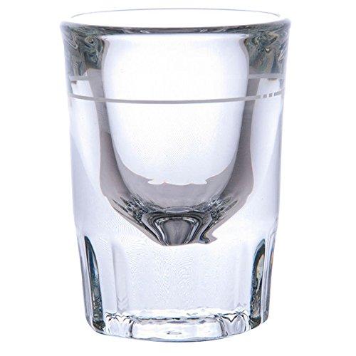 Libbey 5126/A0007 Fluted Whiskey/Shot Glass 2 oz with 1 oz Capacity Line, SET of 6 w/Bonus FDL Picks