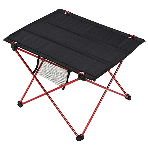 Cikonielf Camping Klapptisch Tragbarer mutifunktionaler Tischtisch im Freien mit diverser Tasche zum Grillen Picknick BBQ Dining (21,9 x 15,7 Zoll)