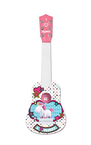 Lexibook K200DES1 Minions Universal Ich-Einfach Unverbesserlich 3 Agnès & Fluffy Meine erste Gitarre, 6 Nylonschnüre, 53 cm, Anleitung inklusive, Rosa/Weiß