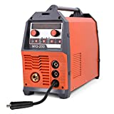 HZXVOGEN 110 220V Dual Volt Double Pulse MIG ARC Twin Pulse MIG Pulse MIG 4 in 1 MIG Welding Machine Can Weld Aluminum Steel (Model: MIG215DPP)