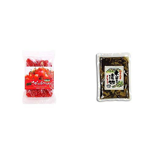 [2点セット] 収穫の朝 さくらんぼグラッセ ラム酒風味(180g)・【年中販売】木曽の漬物 すんき入り(200g) / すんき漬け味付加工品 //