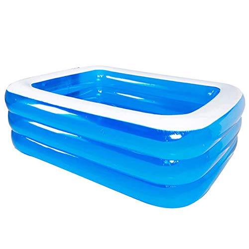 Bling pataugeoires gonflables pour Adultes et Enfants Grandes piscines rectangulaires Piscine Grande Famille Salon Piscine Swim Centre pour l'été en Plein air Jardin