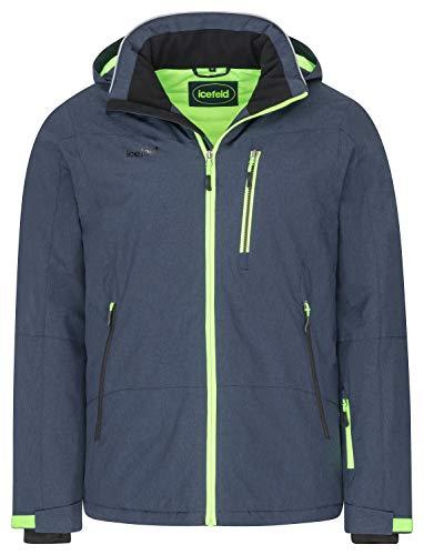 icefeld Herren Winterjacke/Skijacke/Snowboardjacke blau/grün-Gecko in Größe XL