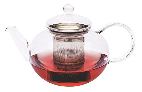 Trendglas Jena Teekanne Miko im klassischen Design mit Edelstahlsieb, 2,0 l