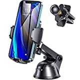 Car Phone Holder Mount -3in1 Phone Mount for Car with Long arm/Industrial-Strength Suction Cup for Dashboard/Windshield/air Vent, Adjustable Cell Phone Holder for Car, Compatible with Smartphones&GPS
