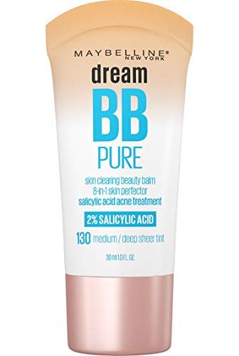 Maybelline Makeup Dream Pure BB Cream, Medium/Deep Skintones, BB Cream Face Makeup, 1 fl oz