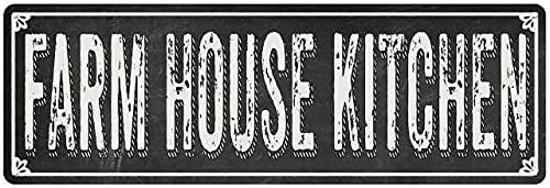 Diuangfoong Letrero de metal con pizarra negra de FARM HOUSE KITCHEN