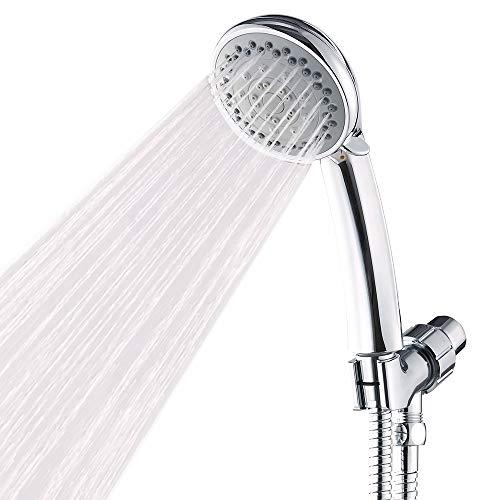 Handheld Shower Head with Hose High Pressure Spray Head Multifunction Hand Held Showerhead Against Low Pressure Supply, Chrome