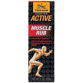 Tiger Balm Active Muscle Rub, 2 oz. – Muscle Rub for Relief – Tiger Balm – Analgesic Cream – Arthritis Rub – Non-Greasy Muscle Rub Cream – Pre-Workout Warm Up