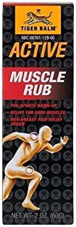 Tiger Balm Active Muscle Rub, 2 oz. – Muscle Rub for Relief – Tiger Balm – Analgesic Cream – Arthritis Rub – Non-Greasy Mu...