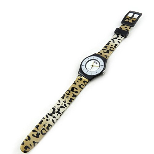 Reloj de pulsera para las mujeres 'Trendy'leopardo marrón.