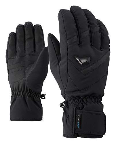 Ziener GARY AS - Guanti da sci alpine da uomo, impermeabili, traspiranti, colore nero, 11,5