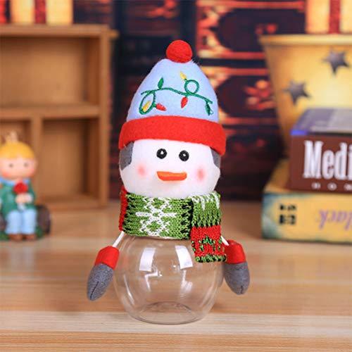 Tarro de latas de dulces de Navidad, lata de almacenamiento de dulces de Navidad, tarro de plástico de regalo, botellas de caramelo, soporte de azúcar para regalo de fiesta de Navidad