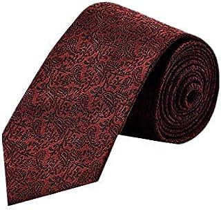 8.5cm Dark Red Flower Men silk necktie casual business Bridegroom neck ties Gifts