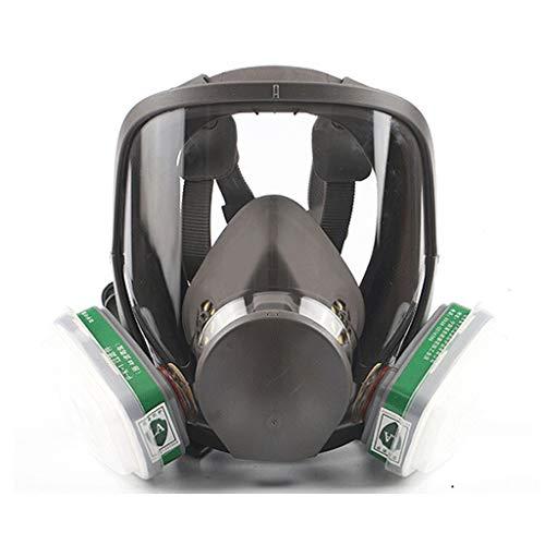 QUANOVO Máscara De Gas Cara Completa Silicona Filtro De Carbón Activado Doble Filtro Protección De Ojos Puede Usarse para Gases Orgánicos Y Vapor Benzofenona Disulfuro De Carbono Etc