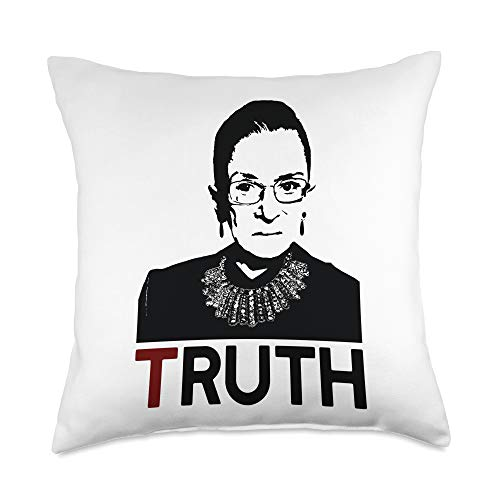 RUTH BADER GINSBURG Icon Feminist Gift Memes CAN'T SPELL TRUTH WITHOUT RUTH Bader Ginsburg RBG Meme Gift Throw Pillow, 18x18, Multicolor