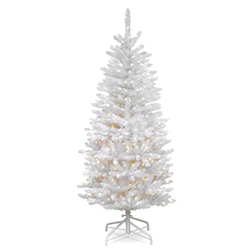 National Tree 4.5 Foot Kingswood Fir White Pencil Tree, ft
