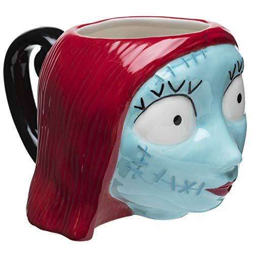 Zak Designs Disney's Nightmare Before Christmas-Sally Unique 3D Character Sculpted Ceramic Coffee Mug, Collectible Keepsake and Wonderful Coffee Mug (13 oz, Sally, BPA-Free)