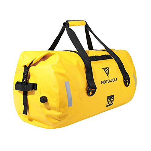 H HILABEE Nylon Sporttasche Reisetasche Umhängetasche Gepäcktasche Gym Schultertasche, Große Kapazität - Gelb, 90L