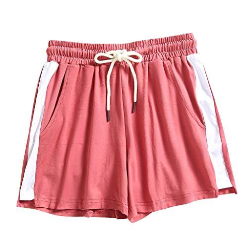 YANFANG Pantalones Cortos Deportivos para Mujer,Moda Mujer Dama Verano Deporte Playa Pantalones Cortos,Ropa de Yoga,Leggings,Mallas,para Deporte, Gym, gimnacio,Adelgazar