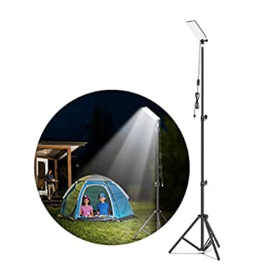 SUDISER Camping Lantern Light Outdoor - 2020 Update 5V Tripod Portable Outdoor Led Work Light, Powered by Power Bank Camping Lamp for Emergency Light, Tent Light, BBQ, Night Fishing, Photography
