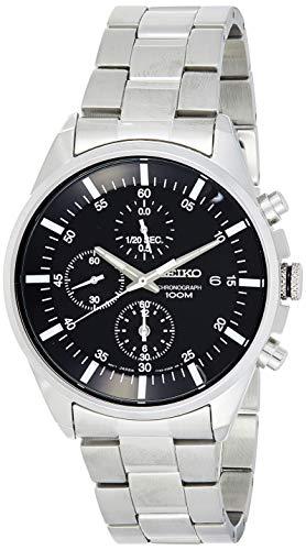Seiko Reloj Cronógrafo de Cuarzo para Hombre con Correa de Acero Inoxidable – SNDC81P1