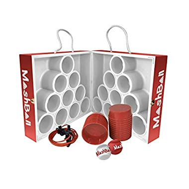Wild Sports MashBall Floating Toss Game, Includes 2 Balls, 22 Plugs and Measuring Cord