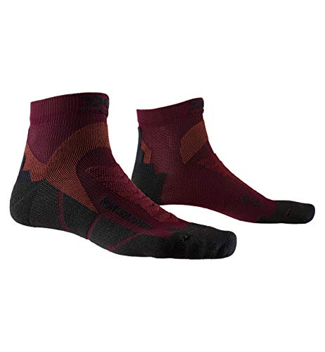 X-Socks Run Discovery Chaussette Mixte Adulte, Rouge (Dark Ruby/Opal Black), L (Taille Fabricant : 42-44)