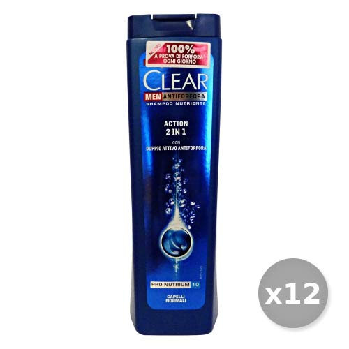Clear Set 12 Shampooing Action 2 in1 normaux 250 ML. Produits pour Cheveux, Multicolore, Unique