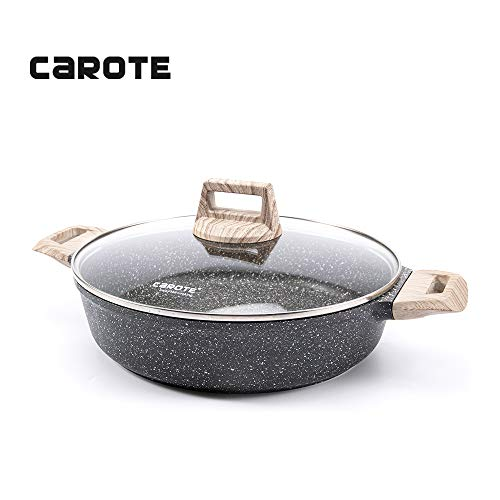 Carote 9.5 Inch/3 Quart Covered Braiser Granite Stone Non-Stick Coating From Switzerland