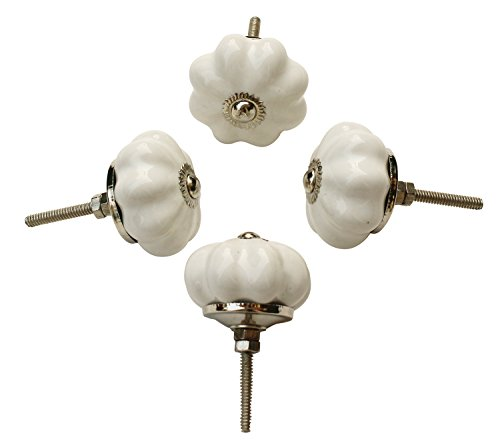 Ivory Ceramic Knobs - 1