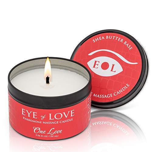 EYE OF LOVE Pheromon-Massage Kerze - One Love, 1er Pack (1 x 150 ml)