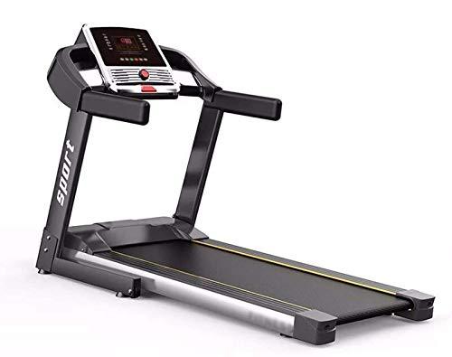 Cinta de correr plegable, profesional, plegable, máquinas para caminar de carga de 120 kg, compatible con WiFi-bicicleta de ejercicio, pantalla táctil de 7 pulgadas, color negro BJY969