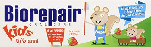Biorepair Dentifricio Junior con Estratto di Fragola Zero Fluoro - 50 ml
